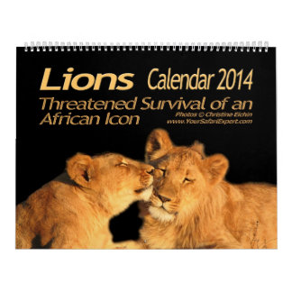 Lions - African Icon Calendar 2014 (Two-Page)