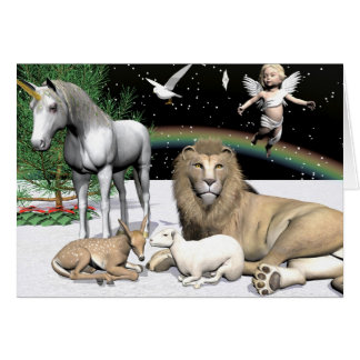 Lions and Lambs Card