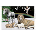 Lions and Lambs Greeting Card