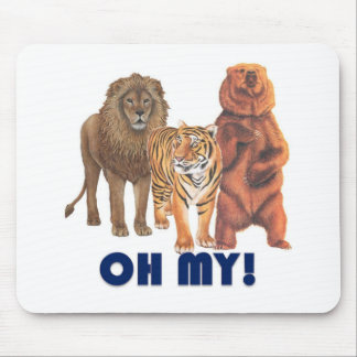 Lions and Tigers and Bears Oh My! Mouse Pad