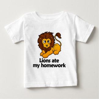 Lions ate my homework baby T-Shirt