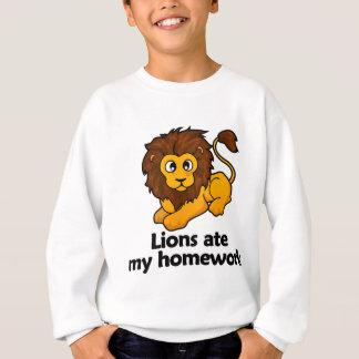 Lions ate my homework sweatshirt