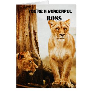 Lions Boss Greeting Card