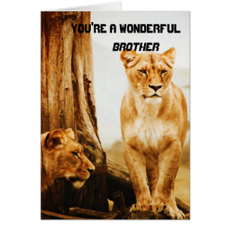 Lions Brother Greeting Card