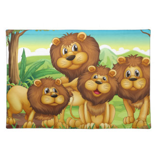 Lions Cloth Placemat