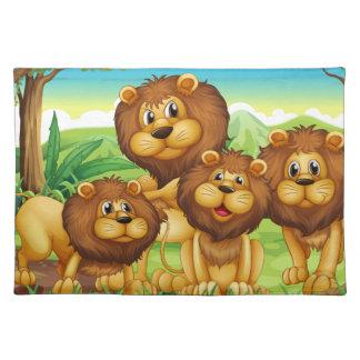 Lions Cloth Placemat