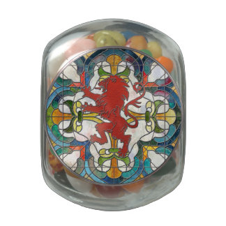 Lions Crest Jelly Belly Candy Jar