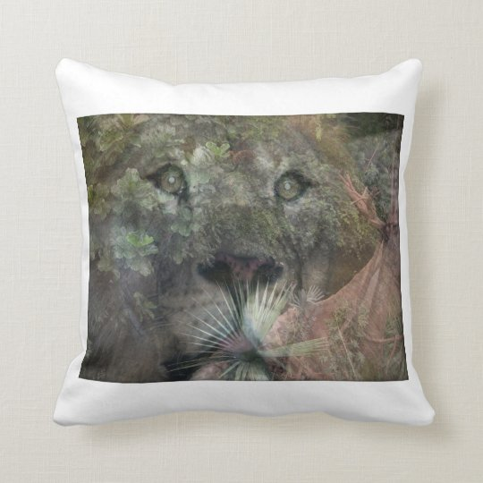 Lions Daydreaming and Looking Up Throw Pillow