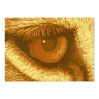 Lions Eye, Brown and Yellow Pastel Card