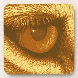 Lions Eye, Brown and Yellow Pastel Drink Coaster