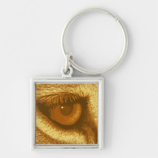 Lions Eye, Brown and Yellow Pastel Keychain