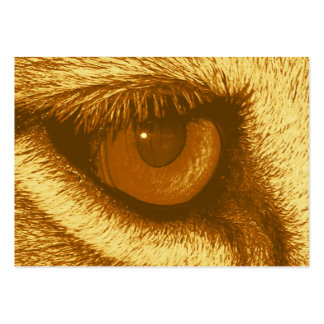 Lions Eye, Brown and Yellow Pastel Large Business Card