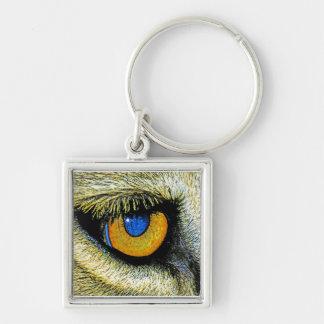 Lions Eye Close Up (2) Keychain