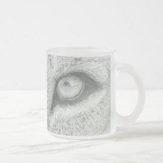 Lion's Eye | Customizable Frosted Glass Coffee Mug