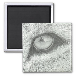 Lion's Eye | Customizable 2 Inch Square Magnet