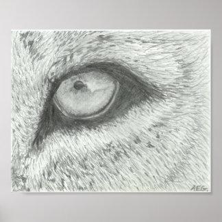 Lion's Eye   Customizable Poster