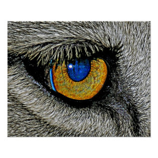 Lions Eye, Realistic Poster