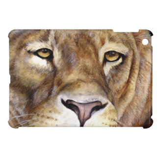 Lion's face fine art ipad mini case