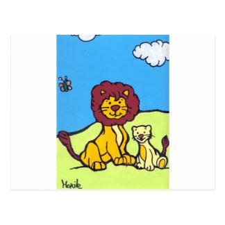 Lions Family Postcard