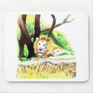 Lions from Safari Mouse Pad