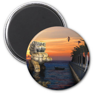 Lions Gate 2 Inch Round Magnet
