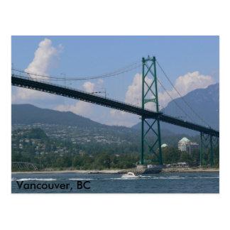 Lion's Gate Bridge, Vancouver, BC Postcard