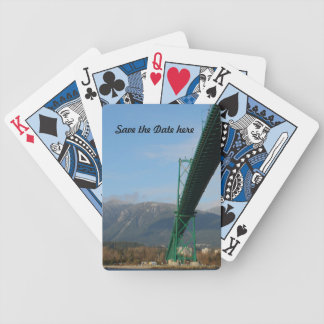 Lions Gate Bridge Vancouver Playing Cards