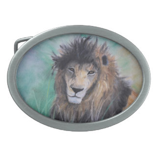 Lion's Gaze Belt Buckle