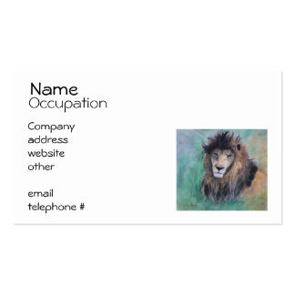 Lion's Gaze Business Card