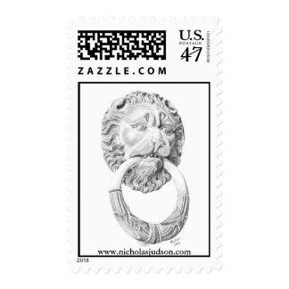 Lion's head door knocker postage