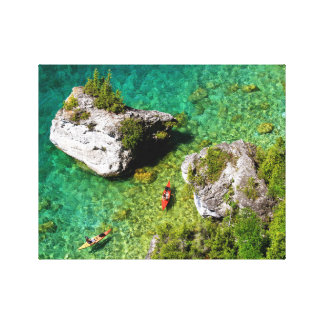 Lions Head Kayakers Canvas Print