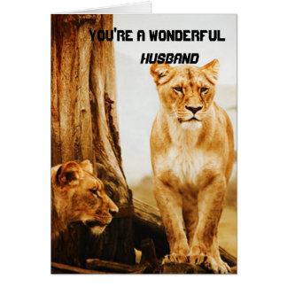 Lions Husband Greeting Card