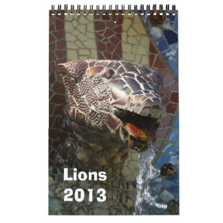 Lions in architecture calendar 2013