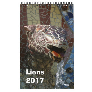 Lions in architecture calendar 2017