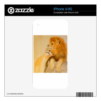 Lions in Love #1.jpg Skin For iPhone 4S