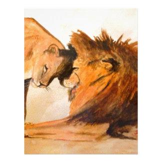 Lions in Love #2 Letterhead