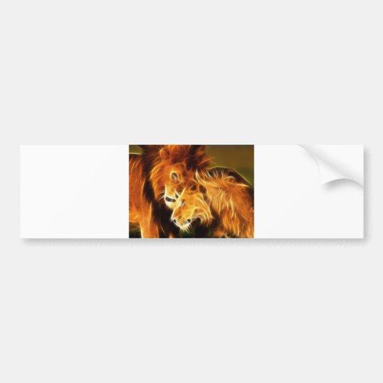 Lions in Love Bumper Sticker