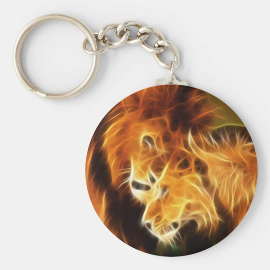 Lions in Love Keychain
