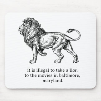 Lions in Maryland Mouse Pad