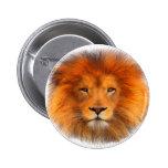 Lion's Mane 2 Inch Round Button