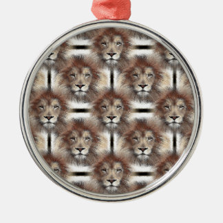 Lion's Mane Design Metal Ornament