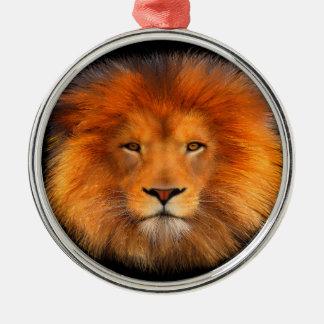 Lion's Mane Metal Ornament