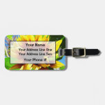Lion's Mane Sunflower Luggage Tag