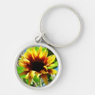 Lion's Mane Sunflower Premium Keychain