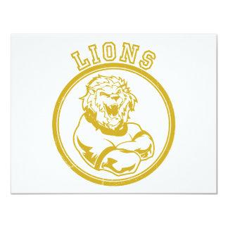 Lions Mascot Card