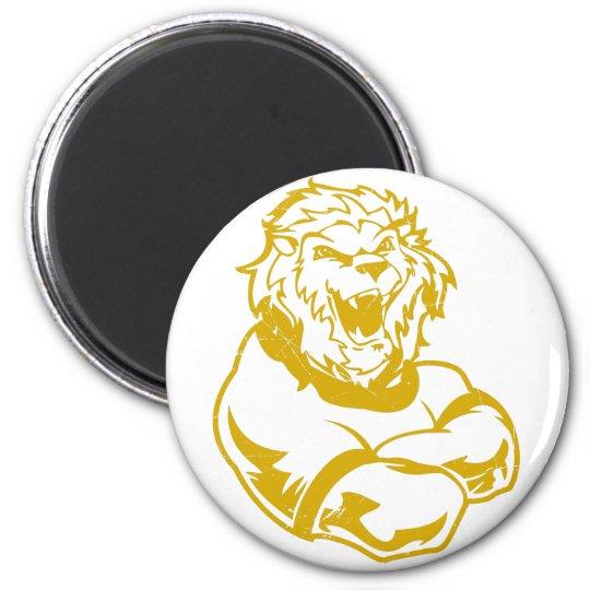Lions Mascot Magnet