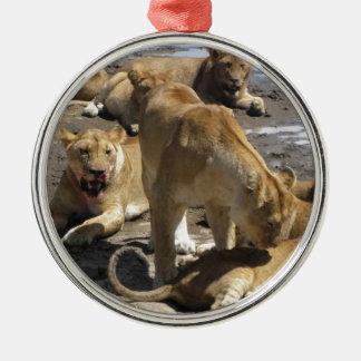 lions metal ornament