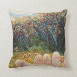 Lions -Noah's Art Story Throw Pillows