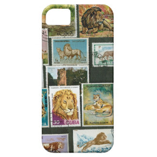 Lions on stamps iPhone 5 case