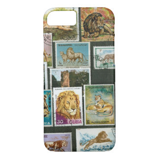 Lions on stamps iPhone 8/7 case